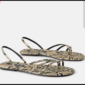 Zara snake print sandals